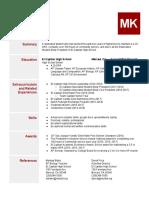 senior portfolio  resume