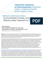 Amazinga Amane Ahlanzekile, Eziphansi, Ukhohliwe Amanzi Ubuchwepheshe Ukuhlomisa Zezimboni / Commercial / Amabhizinisi Ezolimo /Less Known Eco Friendly Low Cost Water Technologies