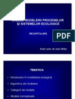 1 Bazele Modelarii Ecologice Prezentare Recapitulare