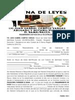 Modelo de Carta de Requerimiento de Pago 2018