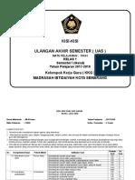 Kisi2 UAS Fikih Kelas 1 Th. 2017