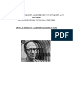 Crítica al modelo de cambio de paradigma de Kuhn