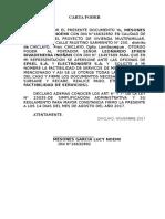 Carta Poder Factibilidad