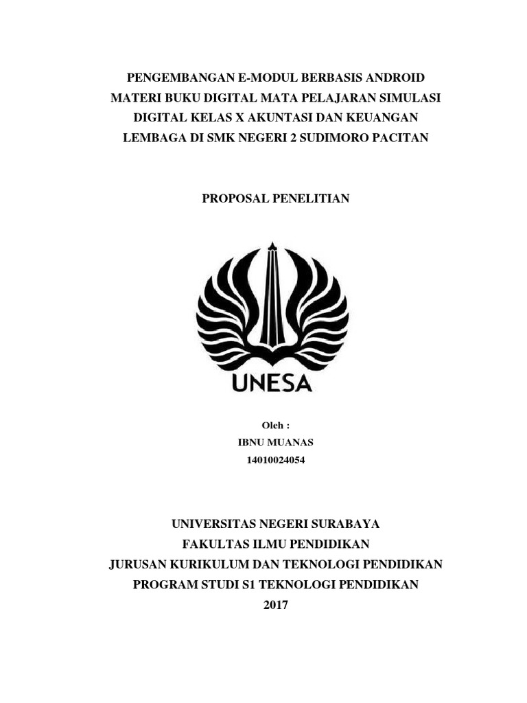 Cover Proposal Skripsi Unesa
