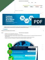 Catálogo Nacional de La Oferta Formativa _ MINEDU