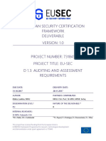 D1.3 Auditing and Assessment Requirements V1.0