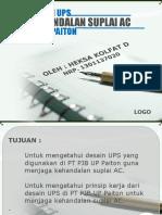 2.Suplai Desain UPS Untuk Keandalan Suplai AC Di PT PJB UP Paiton