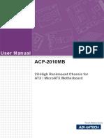 Advantech ACP 2010MB User Manual