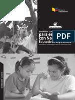 Introduccion a Las Adaptaciones Curriculares Para Estudiantes Con Necesidades Educativas Especiales