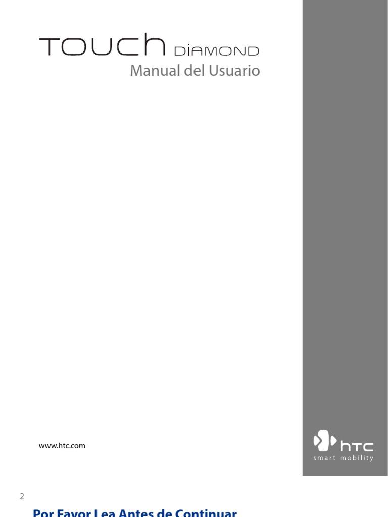 LA HTC Touch Diamond Manual Del Usuario