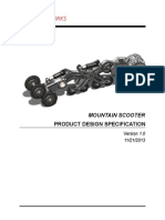 MOUNTAIN SCOOTER Product Specification
