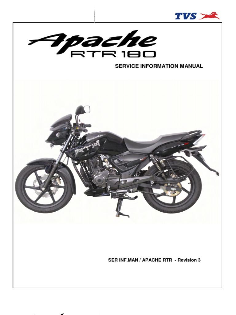 TVS Apache RTR 180 -Service Manual | Carburetor | Tire