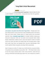 Jenis Kalsium Yang Baik Untuk Menambah Tinggi Badan tanpa efek samping