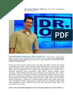 Solusi Cara Meninggikan Badan Benar Menurut Dokter Oz Yang Terpercaya