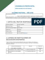 Informe Anual Año 2017. Ministerio Evangelistico Estudiantil. Iep Linares