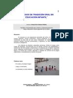 Juegos de Tradicion Oral en Educacion Infantil