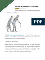 4 Tips Mencegah Dan Mengobati Osteoporosis