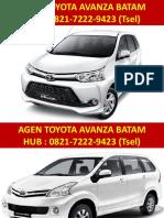 Daftar harga mobil toyota avanza di batam