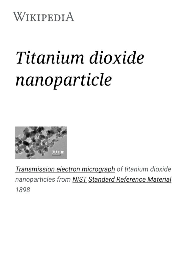Titanium Dioxide Nanoparticle - Wikipedia   Titanium Dioxide