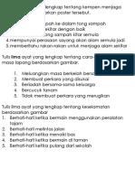 Tulis Lima Ayat Yang Lengkap Tentang Kempen Menjaga Alam Sekitar Berdasarkan Poster Tersebut
