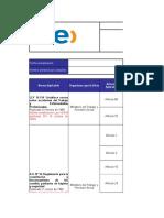 Normativa Básica Legal(Extracto Matriz Legal).