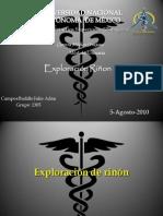 Exploración de riñón