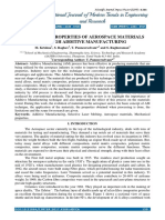 A Review on Properties of Aerospace Materials Through Additive Manufacturing