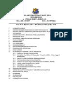 Agenda Mesyuarat Kurikulum Kali Ke-1 2018