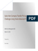 Solve Intra-Company Transfer Pricing Challenges Using Oracle Advanced Pricing