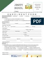 Enrolment Form Divinity School 2018