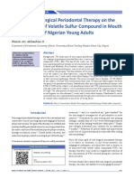 Effect of Nonsurgical Periodontal Therapy on the Concentration of Volatile Sulfur Compound in Mouth Air of a Group of Ni