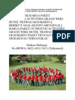 Harga Paket Outbound Activities Grand Whiz Hotel Trawas Mojokerto