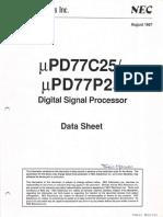 1987 08 UPD77C25 DSP Adv Prod Data Sheet