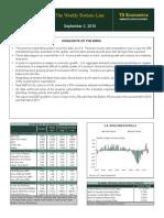 TD Bank - Weekly Bottom Line 090310