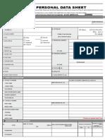 Personal Data Sheet_new