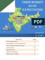 IIFL Union Budget 2018-19 Expectations