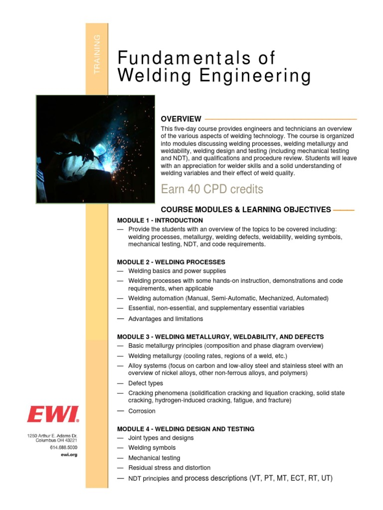 Fwe Training Welding Nondestructive Testing Phase Diagram