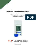 Manual - Datalogger de Temperatura Log 200 - Log 210 - Labprocess - Esp v 1.1