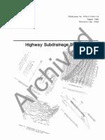 Highway Subdrainage Design-FHWA