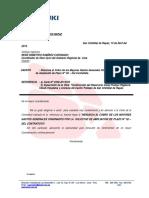 Carta N° 15-2013 - Renuncia al Cobro de Mayores gastos generales