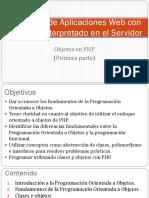 Clase 07 y 08 - Objetos Con PHP