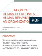 Foundation of Human Relations & Human Behavior In