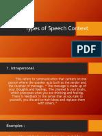Types of Speech Context