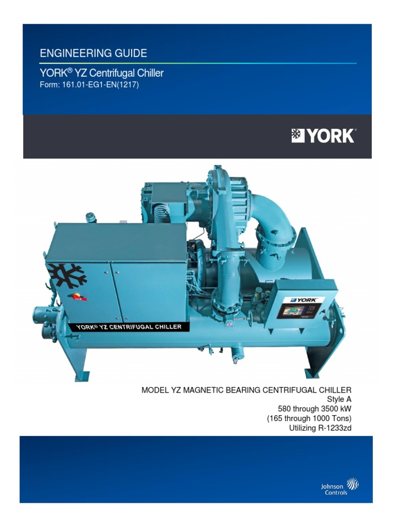 YORK YZ Engineering Guide | Heat Exchanger | Air Conditioning