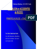 2013 ACTUACION en ACCIDENTES ACTUACION en ACCIDENTES de BUCEO PRIMEROS AUXILIOS y EVACUACION PRIMEROS AUXILIOS y EVACUACIÓN