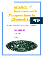 Variation of Conductance With Temperature in Electrolyte1