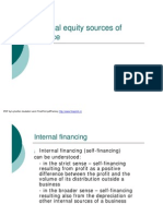 Internal Equity Sources of Finance