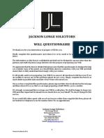 JLS Will Questionnaire Version 4.0
