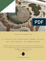 A Cultura Da Sustentabilidade Social