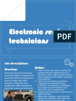 electronic service technician